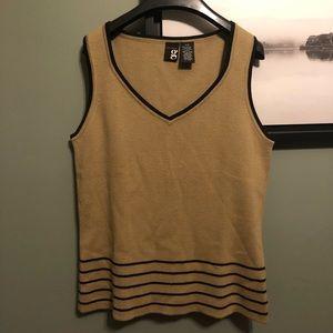 SALE 5 for $20 Camel Knit Sweater Vest